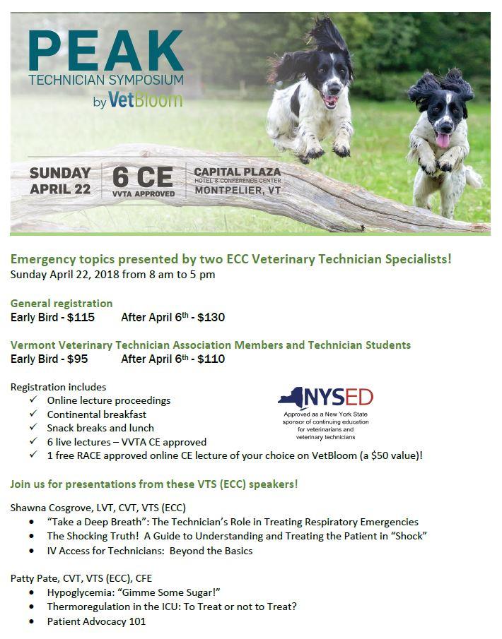 2018 Peak Technician Symposium Flyer
